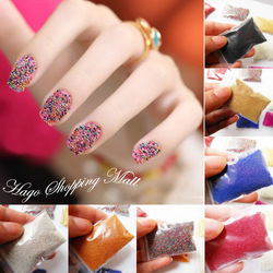 Free Shipping Hot New Packing (15g/bag) Nail Art Trend Caviar Manicures Nail Beads Nail Art 1mm Micro Beads(China (Mainland))