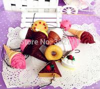 30pcs Mini Ice Cream & Cake & Donut Squishy Phone Charm/Free Fhipping