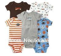 5pcs per lot Baby Boy&Girl's Short Sleeve Bodysuits Carter's bodysuits Animal jumpsuits 100% cotton 3M-24M Free Shiping