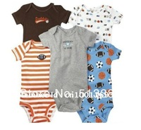 5pcs per lot Baby Boy&Girl's Short Sleeve Bodysuits Carter's bodysuits Animal jumpsuits 100% cotton 3M-24M Free Shiping