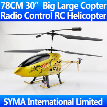 "78CM 30"" Big Large 3.5CH Gyro Radio Remote Control Electric RC Helicopter RTF Copter LCD Display VS DH9053 Double Horse 9053"