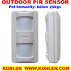 Wired  tri-tech PIR motion sensor detector outdoor with 3pcs high-precision dual pir sensor & 25kg pet immunity, Free shipping