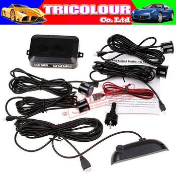 Car Color LED Display Sound Alarm Indicator Reverse Backup Radar 4 Sensors parking System wholesale #I07032