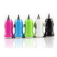 Mini car charger usb charge Mix Color
