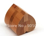 Free shipping of Heart Cube Wood Construction Puzzle Wooden Brain Teaser
