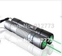 New 50000mw Green Laser Pointers 532nm Silver shell Green laser flashlight  long-range burn match+battery+changer+box+FREE SHIPP