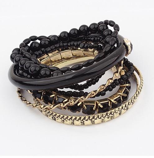 Wholesale Best-seller Vintage Nationality Strings of Beaded Multi-layers Charm Bead Bracelet Bangle SPX0635 bracelets & bangles(China (Mainland))