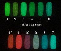 NEW 12 Colors 15ml Fluorescent Neon Nail Art Polish Glow in Dark Lacquer Varnish Luminous nail polish