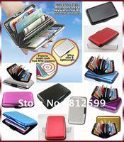 Free Shipping Wholesale! 200pcs Aluminum Aluma Credit Card Wallet Money Holder RFID Blocking Case (11 styles available)