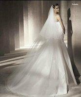 """1T Bridal Long White / Ivory Wedding Veil Accessories 104.33"""" AV001"""