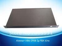 1U rack 8FXO ports VOIP PBX Elastix system, TDM800P asterisk card included
