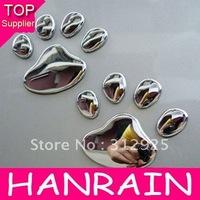 Hot Sale 80pcs/lot PVC Personality Car Decoration Cute 3D Cool Bear Dog Footprints Car Stickers