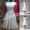 100% Real Photo 1950s Vintage Chiffon Bridal Dress Short Wedding Dresses WD072304 with High Quality