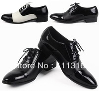 FREE SHIPPING ! 2014 NWT fashion men's leather shoes black business casual sport Oxfords SIZE US 6.5-10 EUR 39-44 JT011