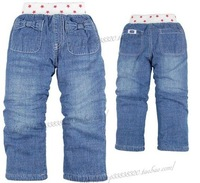Packet mail, 2013 autumn winter outfit is new style, thickening lamb flocking children jeans  ,Wearing very warm(5 PCS/Lot)