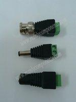 10Pair ( 20pcs )2.1X5.5mm DC Power Plug and Jack Connectors+ 10pcs BNC Plug Connectors