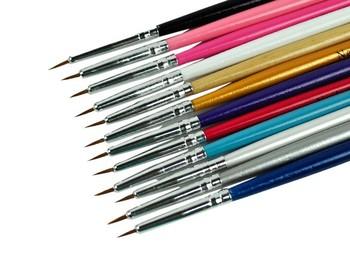 12pcs/Set Colorful Nail Art Brush, Design Brush Pen For Fine Details Tips Drawing Wholesale 34