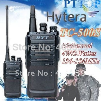 VHF transceiver 136-154MHz  HYT TC-500S Portable UHF FM Transceiver Radio (same of English Version TC-446S )