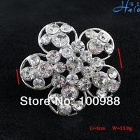 P233-252 Free Shiping 10PC/Lot Silver Pin Brooch Trendy Rhinestone Costume Jewellery