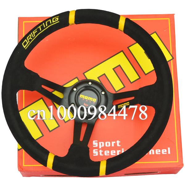 Momo Red Suede Steering Wheel Momo Drifting Steering Wheel