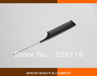 0812 8 1/2'' professinal hair salon carbon fiber  metal tail comb for hair cutting and styling