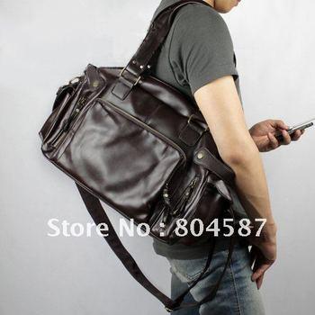 EMS Fast shipping!Hot Sale!Korean Men PU Duffel Sport Casual Travel Carry On Shoulder Messenger Big Bag Black/Coffee BG167
