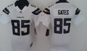 2012 San Diego Chargers 85 Antonio Gates White Jerseys (Game)