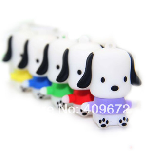 Retail genuine 2G 4G 8G 16G 32G usb drive thumb drive usb flash drive memory cartoon cute dog Free shipping+Drop shipping