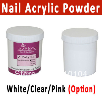 Free Shipping 3 colors Nail Acrylic Powder Crystal Powder clear white pink Nail Builder acrylic color