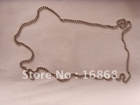 Free Shipping!1 Pack=100pcs 24inch 60cm, 2.4mm Bead Ball Chains, stainless steel,with connector,used as dog tag sets or necklace
