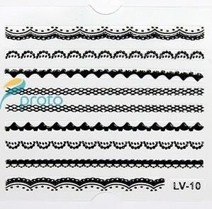 Freeshipping-24pcs mixed NEW 3D Black Lace Nail Art Sticker Decal  Nail Stickers Nail Art Decoration Dropshipping SKU:B0044X