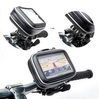 Motorcycle Bike Waterproof Case Bag + Mount Holder For Garmin GPS Navigator