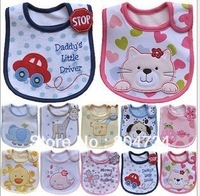 Wholesale by fedex /baby bibs/cotton bibs/waterproof towels carter bids many colors