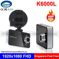 "K6000L Car DVR Driving Recorder 2.7"" LCD 1080P Full HD Car BlackBox 140 Degree Wide Angle G-Sensor Motion Detection Night Vision"