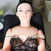 Realistic  inflatable LOVE DOLLS with two holes-Silicon pussy/vaginal&anus,Multi-speed vibrator included