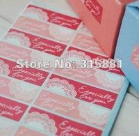 NEW Pink lace sticke seal sticker ,gift stickers  600pcs/LOT