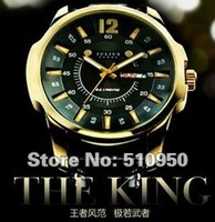 100% Authentic, Wholesale, Free Shipping Julius Men's Wrist Watch Quartz Round Fashion MAN style, King Style, Black, JAH 017