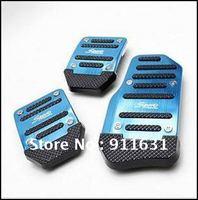 Car Auto Vehicle Pedal 3pcs/lot 3 Color Aluminium Alloy Non-slip Foot Brake Cover Car Black Pad Free Shipping