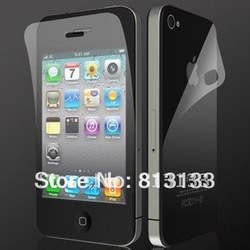 Free shipping High quality LCD Screen Protector protective film for iPhone 4 4G hot selling(China (Mainland))