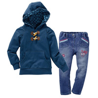 New 2014 autumn children clothing suits girls clothing set child cotton sportswear set girl casual suit
