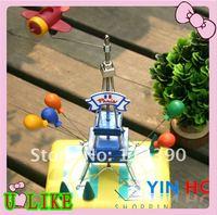 free shipment music box - Eiffel Tower birthday gift hot sale Musical Land Happy Hour Flight Tower Music Box