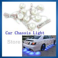 Car Chassis Light Led Car Side Light 12v with Blue Lights 8pcs/set