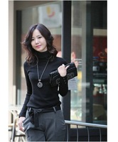 2013 New Arrival,Hot Sell women's fashion solid turtleneck knitting sweaters/lady fashion pullovers/cardigan,S~XXXL,3color/X2222
