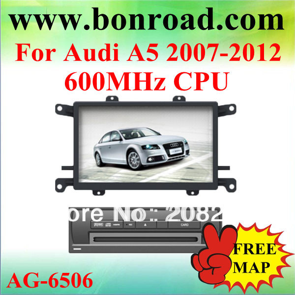 car radio with gps navigation for Audi A5 2007-2012 free gps + free rear view camera(China (Mainland))