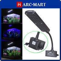 2013 NEW 3W Aquarium 3 Mode Clip Flexible Lamp 48 LED White & Blue Light 85-265V Touch Switch #HK372