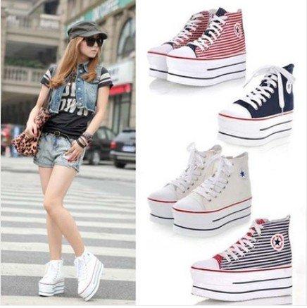 White Platform Sneaker