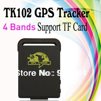 Smallest Mini GPS Tracker  - TK102 ,Quad Band, Support TF Card