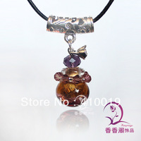 Murano Glass Perfume Necklaces (with cord) Essential Oil Vial Pendants perfume bottle jewelry  murano glass necklace
