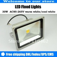 10PCS 30W AC85-265V LED Floodlights warm white / cool white Free shipping