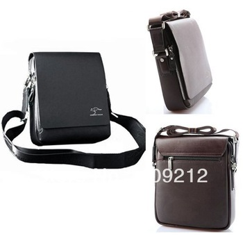 Free Shipping 1pcs/Lot PJ Faux Leather Shoulder Business Bag Briefcase Portfolio Man BG164